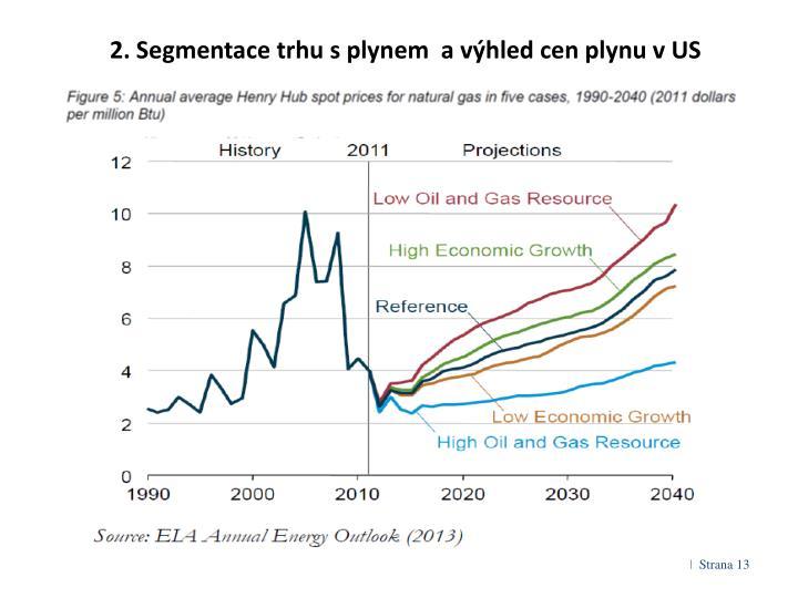 2. Segmentace trhu s plynem  a výhled cen plynu v US