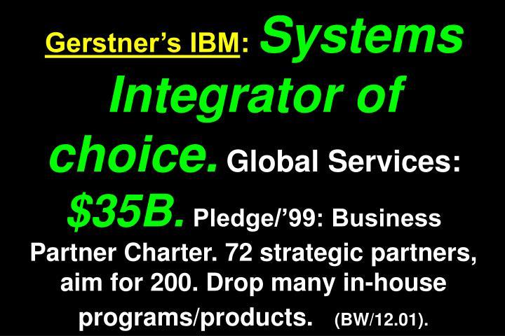 Gerstner's IBM