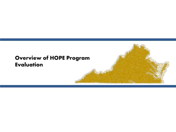 Overview of HOPE Program