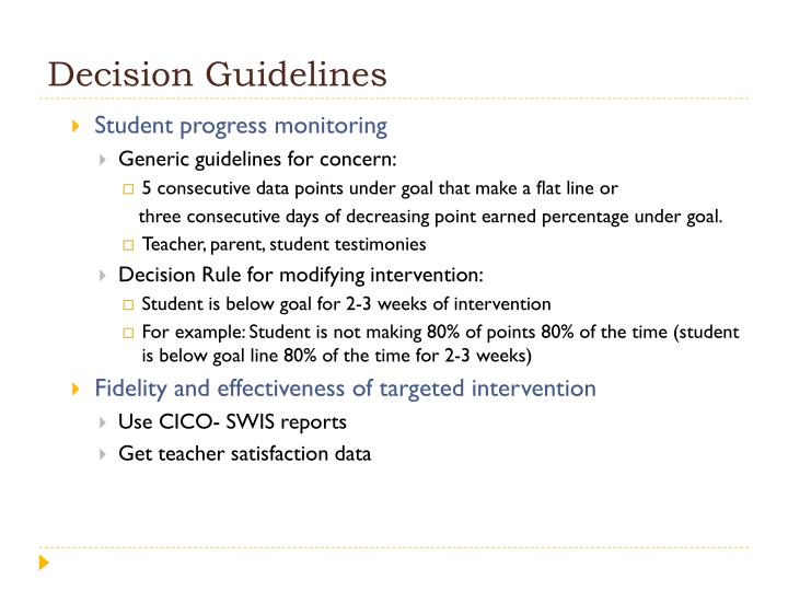 Decision Guidelines