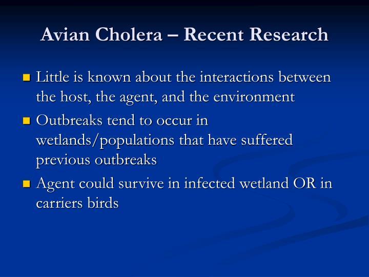 Avian Cholera – Recent Research