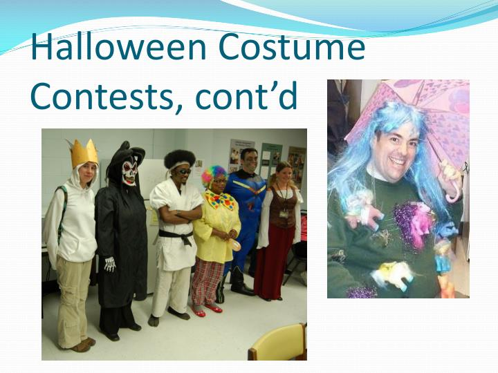 Halloween Costume Contests, cont'd