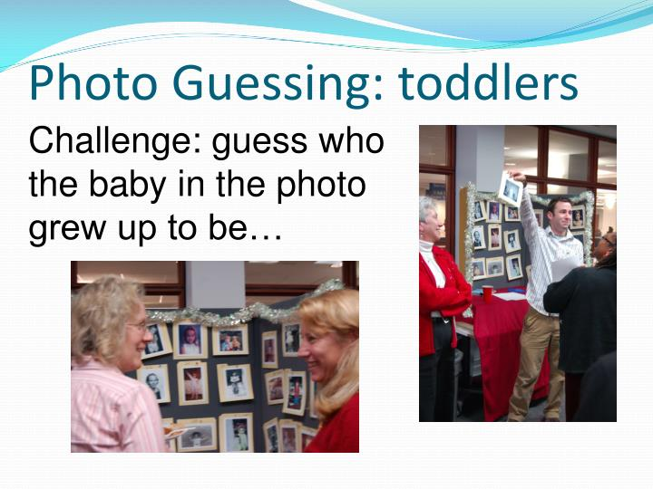 Photo Guessing: toddlers
