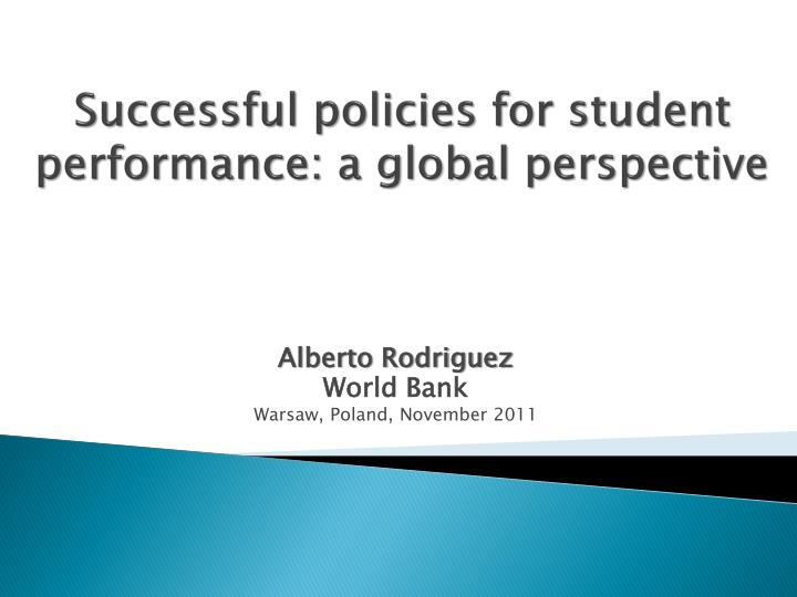 successful policies for student performance a global perspective n.