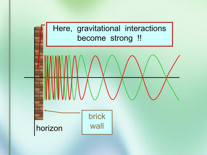 Here,  gravitational  interactions  become  strong  !!