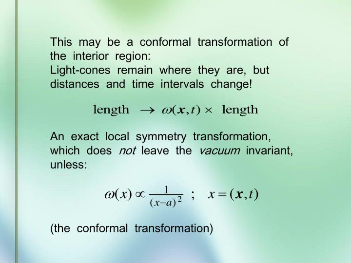 This  may  be  a  conformal  transformation  of  the  interior  region: