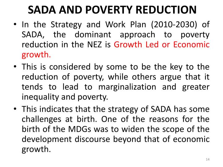 SADA AND POVERTY REDUCTION