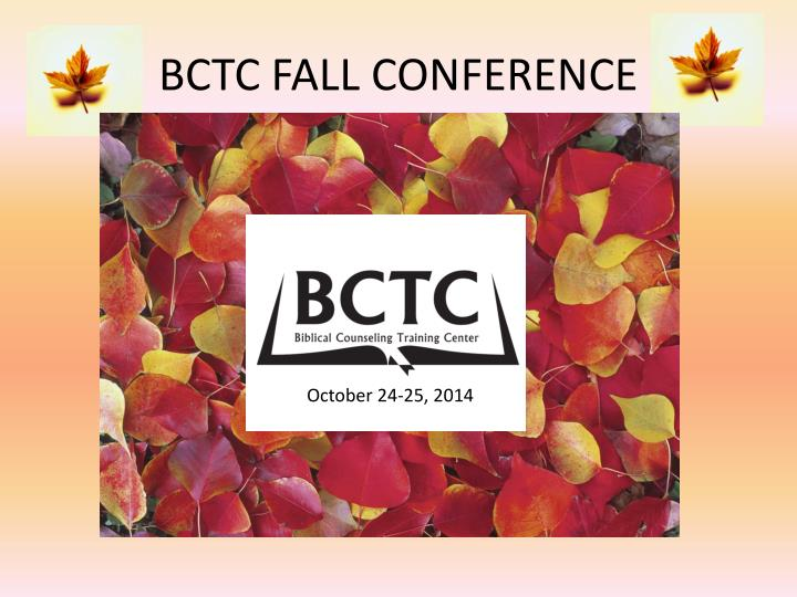 bctc fall conference n.