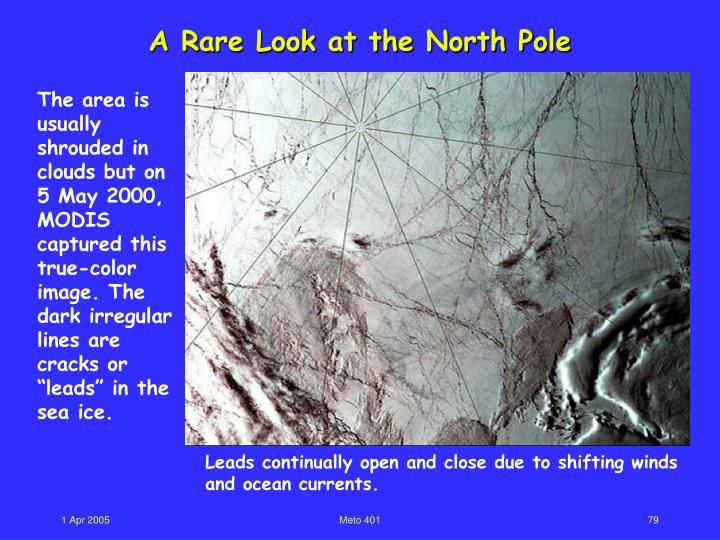 A Rare Look at the North Pole