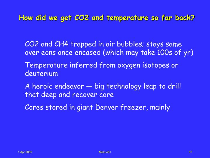 How did we get CO2 and temperature so far back?