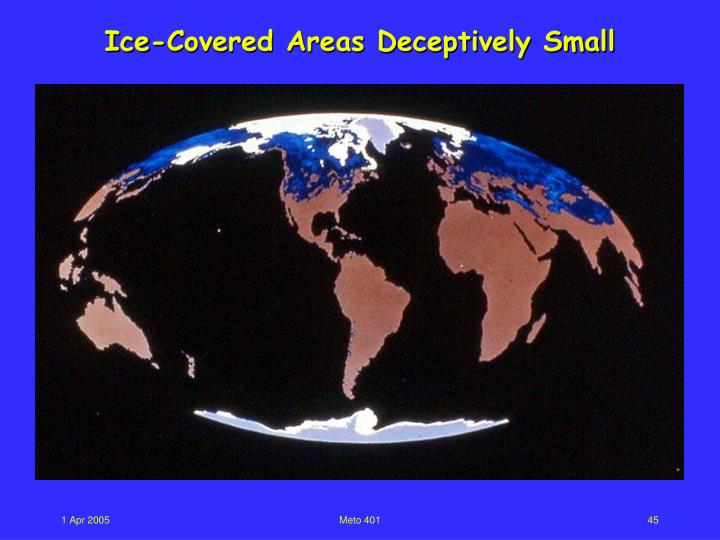Ice-Covered Areas Deceptively Small
