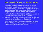 our current ice age the last 3m yr