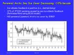perennial arctic sea ice cover decreasing 10 decade