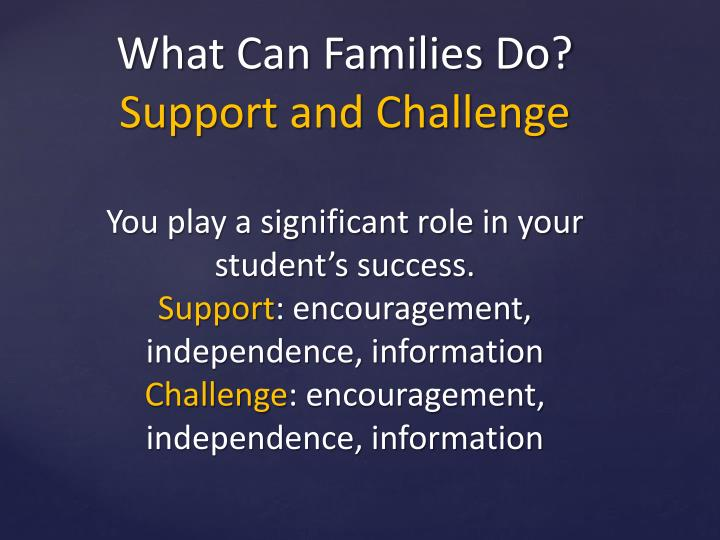 What Can Families Do?