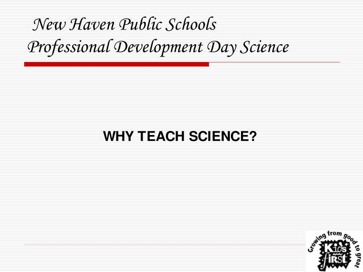 new haven public schools professional development day science n.