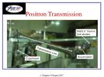 positron transmission