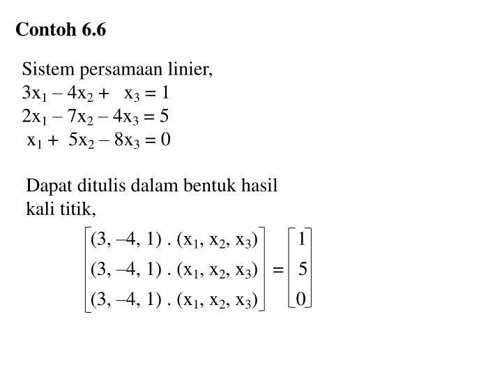 Contoh 6.6