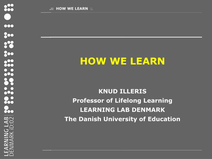 How We Learn Learning And Non Learning In School And pdf ...