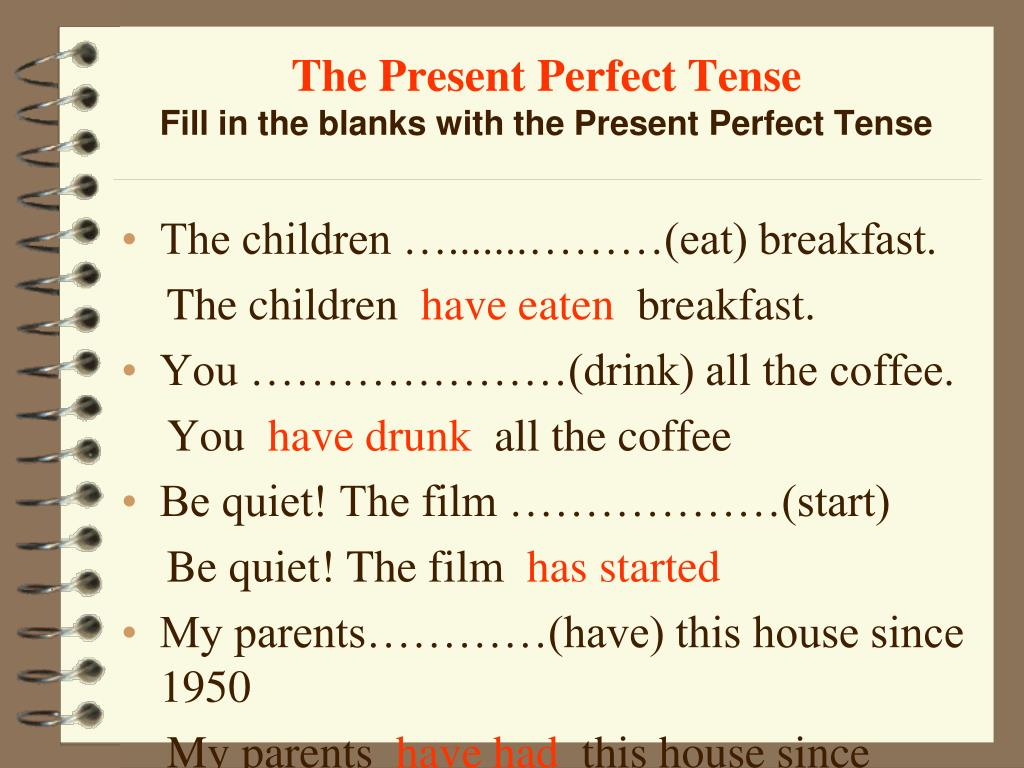 PPT - The Present Perfect Tense PowerPoint Presentation - ID:6181758