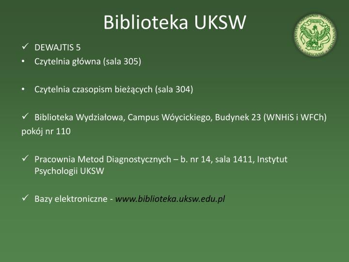 Biblioteka uksw