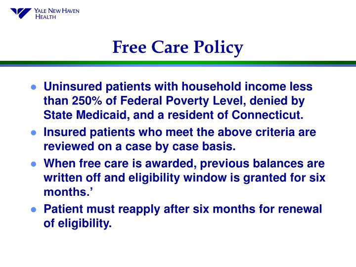 Free Care Policy
