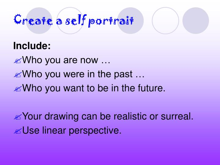 Create a self portrait