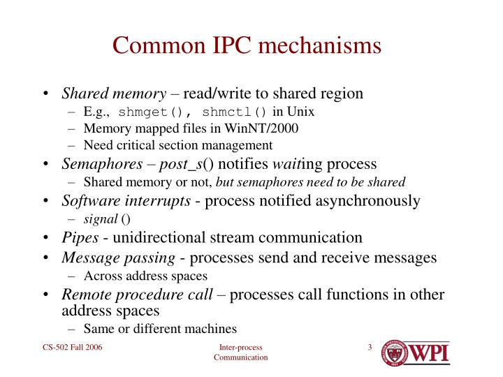 Common ipc mechanisms