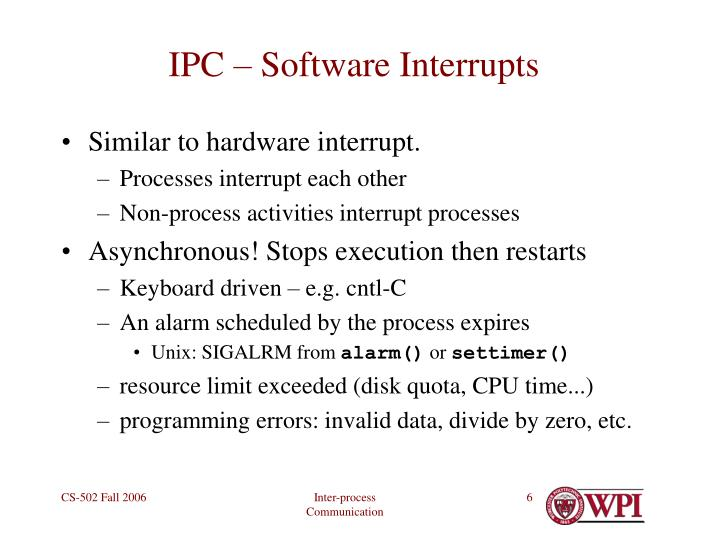 IPC – Software Interrupts
