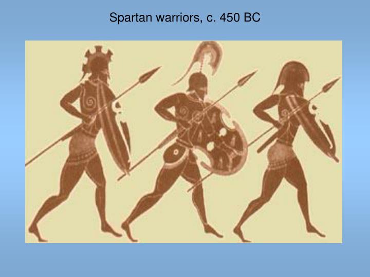 Spartan warriors, c. 450 BC