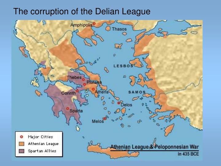 The corruption of the Delian League