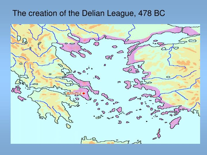 The creation of the Delian League, 478 BC
