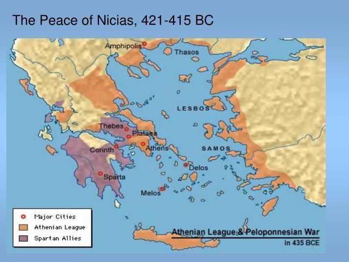 The Peace of Nicias, 421-415 BC