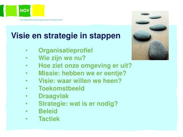 Visie en strategie in stappen
