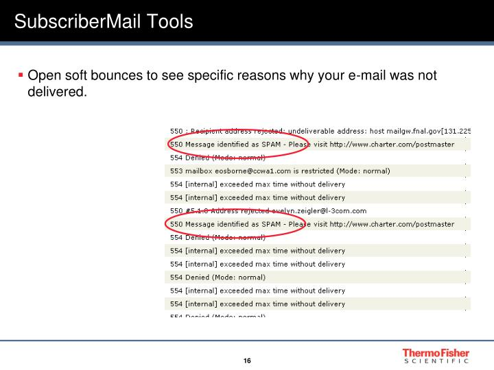 Open Soft Bounces To See Specific Reasons Why Your E Mail Was