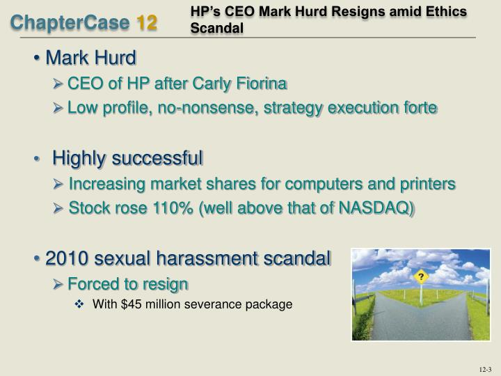 HP's CEO Mark Hurd Resigns amid Ethics Scandal