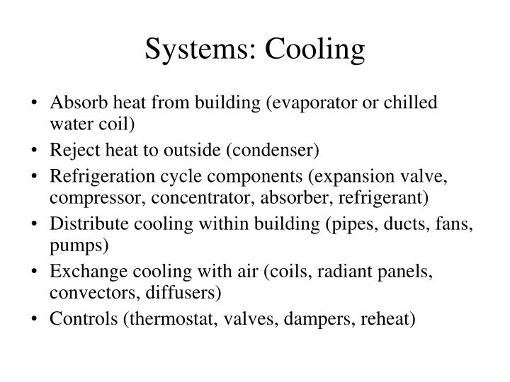 Systems cooling