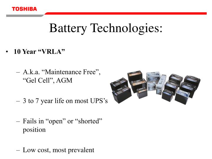 Battery Technologies: