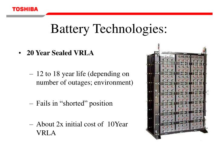 20 Year Sealed VRLA