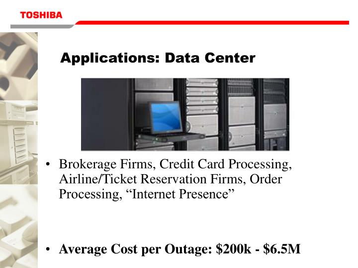 Applications: Data Center