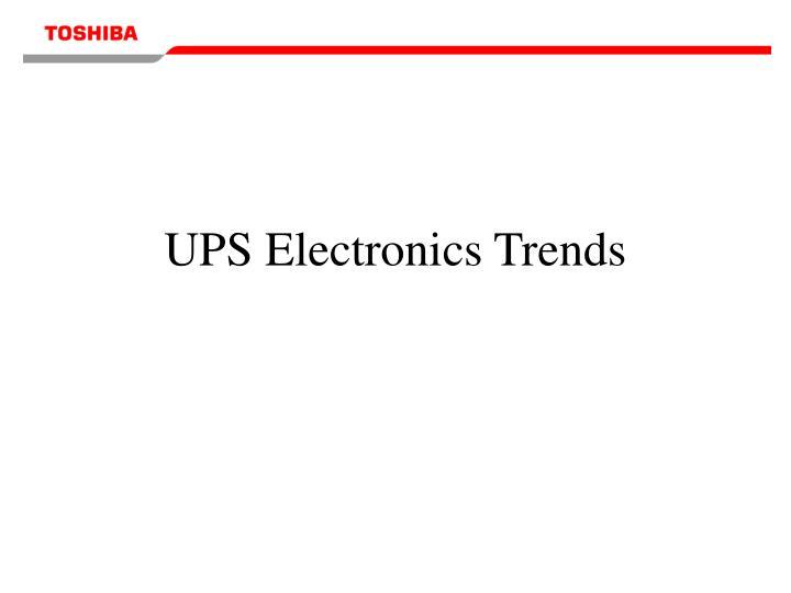 UPS Electronics Trends
