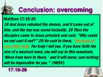 conclusion overcoming