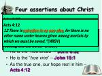 four assertions about christ1