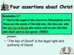 four assertions about christ2