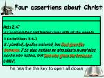 four assertions about christ3