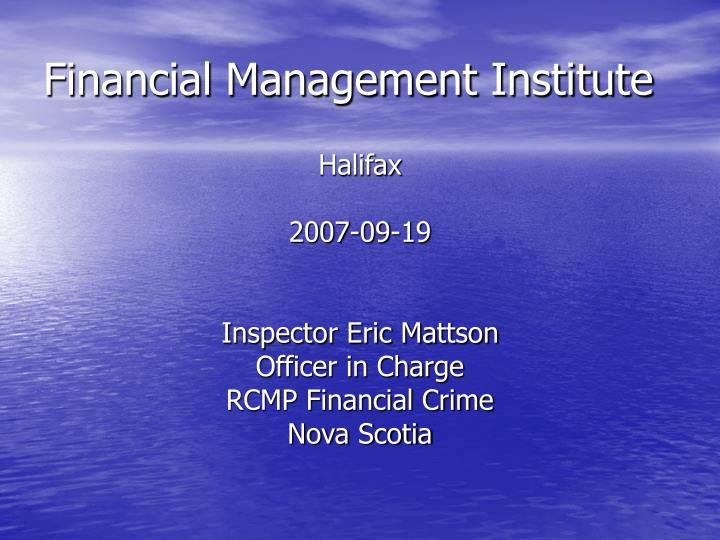 financial management institute n.