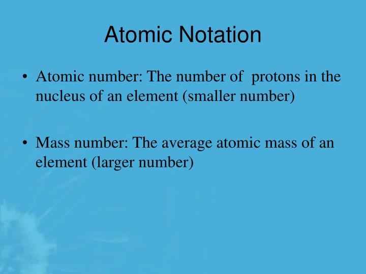 Atomic Notation