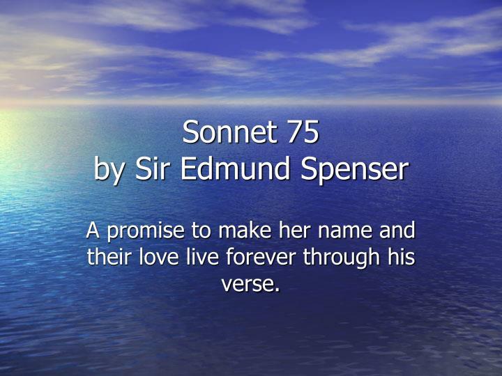 Sonnet 75