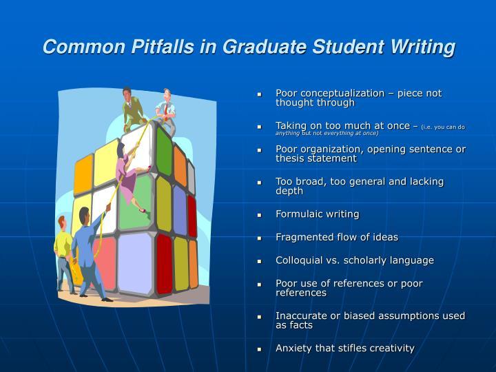 Common Pitfalls in Graduate Student Writing