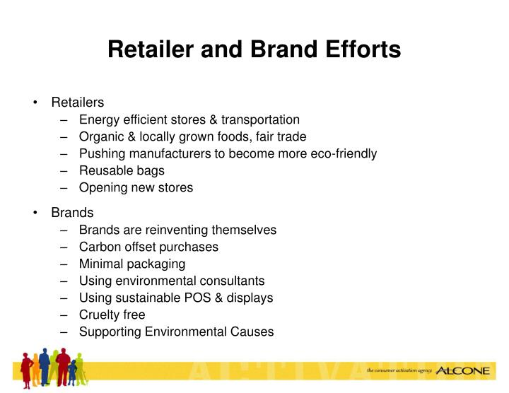 Retailer and Brand Efforts