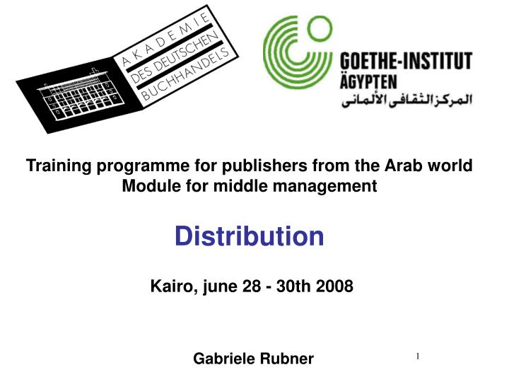 PPT - Training programme for publishers from the Arab world